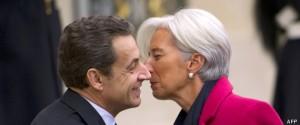 FRANCE-FMI-SARKOZY-LAGARDE